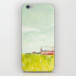 Oil painting house iPhone Skin