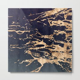 Double Marble Lichenradient Suede Metal Print