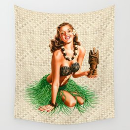 Tiki Girl Wall Tapestry