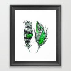 Greenish Framed Art Print