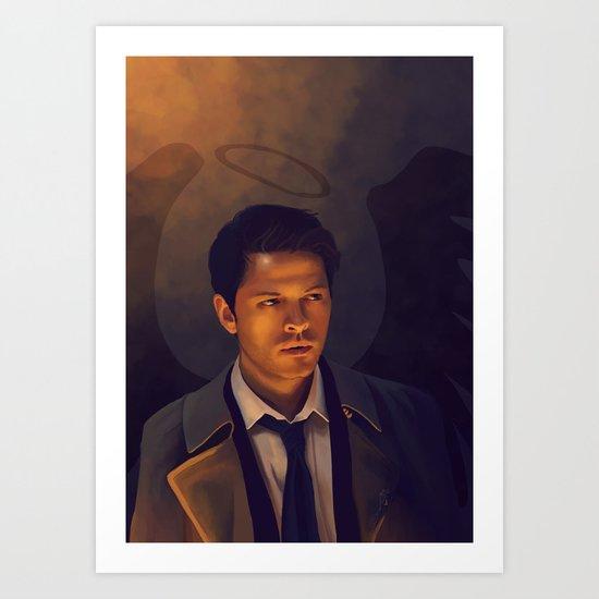 Castiel - Supernatural Art Print