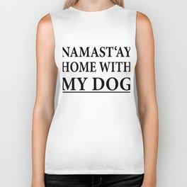 Funny Dog Shirt I Puppy Yoga Namastay Gift Biker Tank