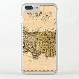 Map Of Hispaniola 1762 Clear iPhone Case