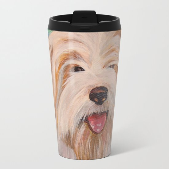 Terrier Portrait Metal Travel Mug