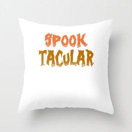 Spook Tacular Halloween Costume Throw Pillow