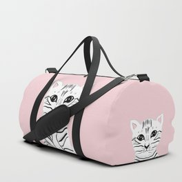 Baby Cat on Blush #1 (Kids Collection) #animal #decor #art #society6 Duffle Bag