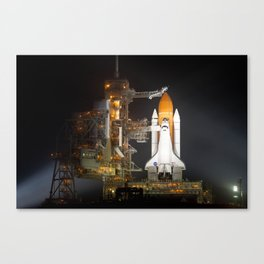 Space Shuttle Discovery is Prepared for Launch Canvas Print