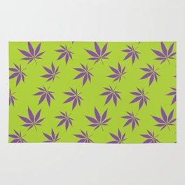 Marijuana leaves - green/purple Rug