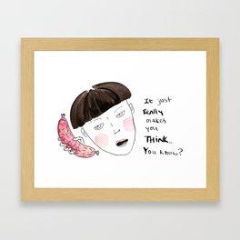 Sausage Girl 01 Framed Art Print