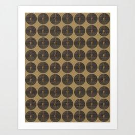 Pendulum - Black and Gold Art Print