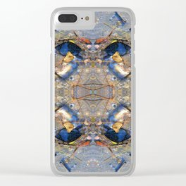 Leaves, Sea Shells and Sand Pattern Clear iPhone Case