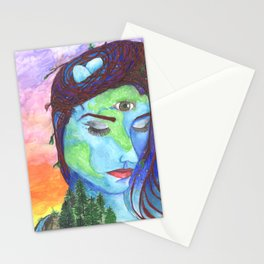 Mother Earth and a Sunset Stationery Cards