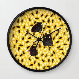 Seedy Hamsters Wall Clock