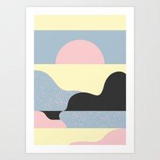 Mountandsea Art Print