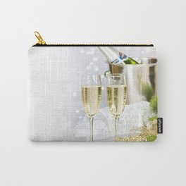 champagne New Year Christmas glasses of champagne decorations Christmas tree Carry-All Pouch