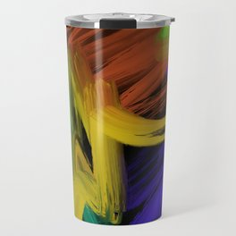 Abstract 3 Painting in Oil Travel Mug