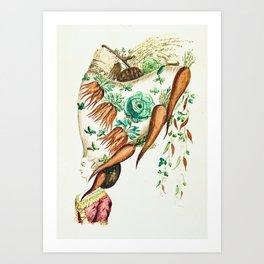 """Bountiful Bouffant"" by Sistar Sparkles 2021 Art Print"