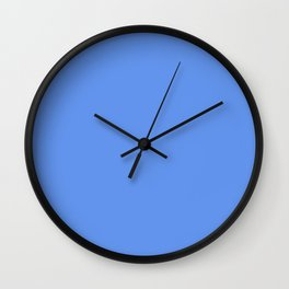 CORNFLOWER pastel solid color Wall Clock