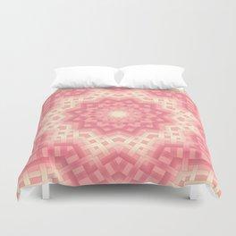 pink basket weavу #binding #ribbon #pink #peach #beige Duvet Cover