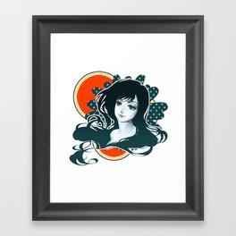 Polka Dot Flower Framed Art Print