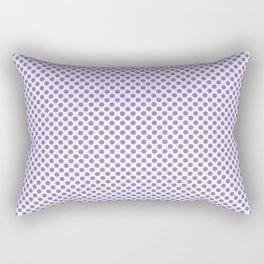 Lilac Bush Polka Dots Rectangular Pillow