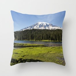 Mt Rainier from Reflection Lake, No. 1 Throw Pillow