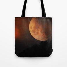 Red Moon II Tote Bag