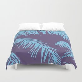 Ultra Violet Palm Print Duvet Cover