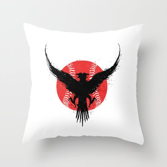 Eagle baseball Throw Pillow
