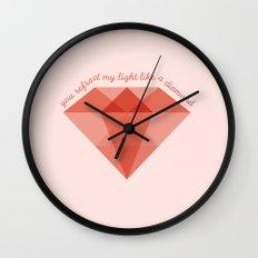 Refract My Light  Wall Clock