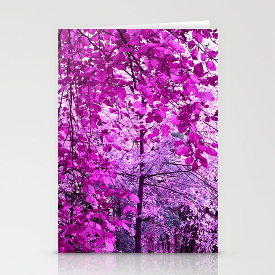 purple forest II Stationery Cards