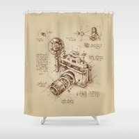 leo Shower Curtains featuring Moment Catcher by Enkel Dika