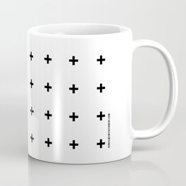 Black Plus on White /// www.pencilmeinstationery.com Coffee Mug