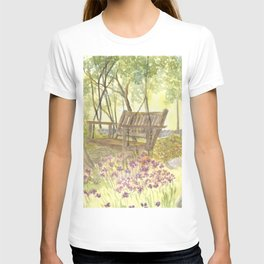 Bedrock Garden Spring on In and Out Pathway T-shirt
