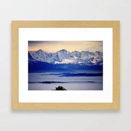 Alps from Jura Framed Art Print