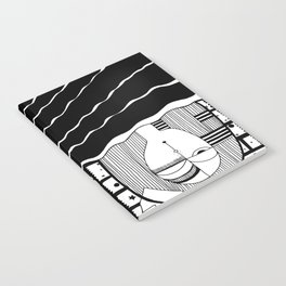 Upside Down Snooze Woman Notebook