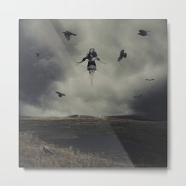 With the Blackbirds Metal Print