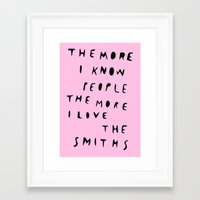 the smiths Framed Art Prints featuring THE SMITHS by WASTED RITA