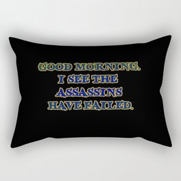 Funny One-Liner Assassin Joke Rectangular Pillow