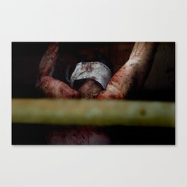 Tortured Zombie in Sewer Canvas Print