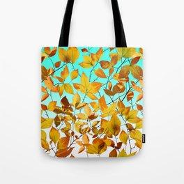 Autumn Leaves Azure Sky Tote Bag
