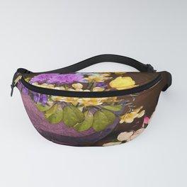 Colorful Flower Basket Fanny Pack