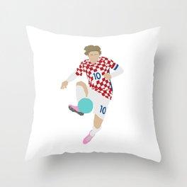 Luka Modric Croatia Print Throw Pillow