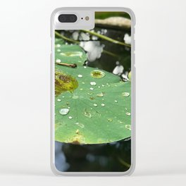 Water Lilies on a Pond Clear iPhone Case