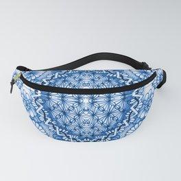 Blue Zentangle Tile Doodle Design Fanny Pack