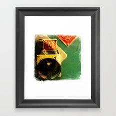 green bolt Framed Art Print