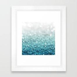 MERMAID GLITTER - MERMAIDIANS AQUA Framed Art Print