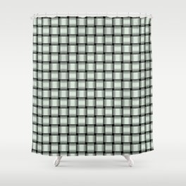 Small Pastel Green Weave Shower Curtain