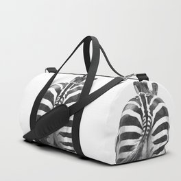 Black and White Zebra Tail Duffle Bag