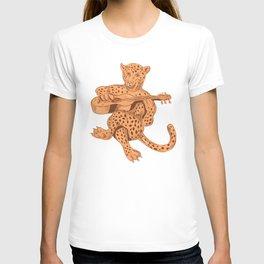 Jaguar Playing Guitar T-shirt